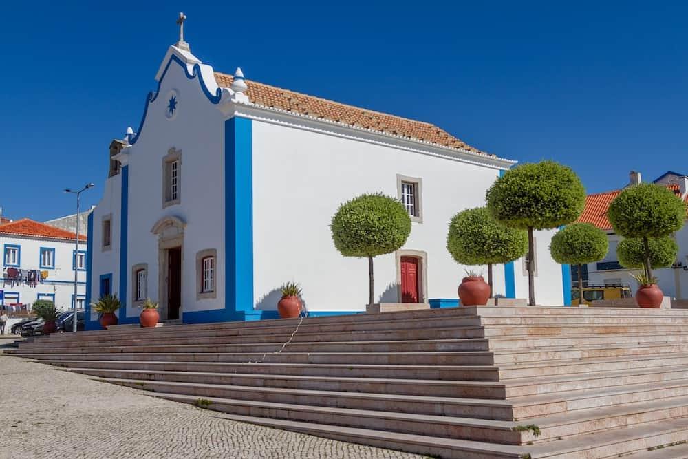 The beautiful Capela de Santa Marta in Ericeira