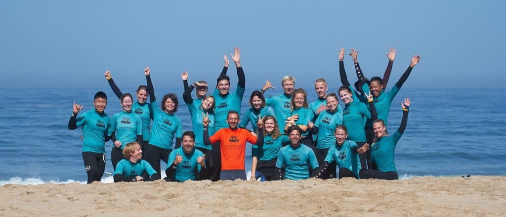 Learning to surf in Ericeira is so much fun!